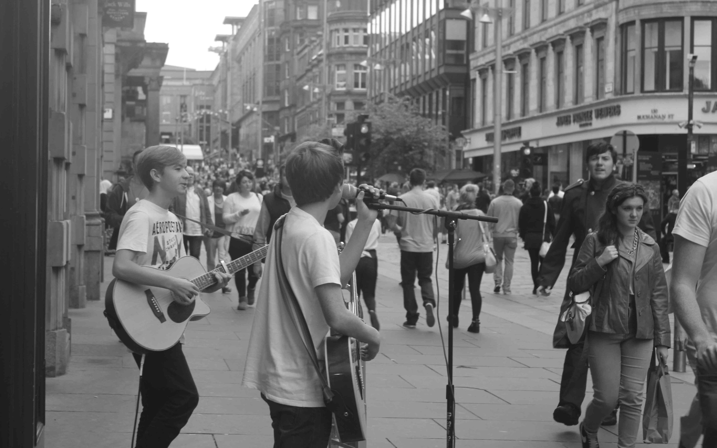 Busking Background